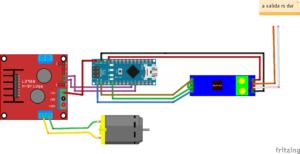 Esquema de conexión de arduino para controlar camara